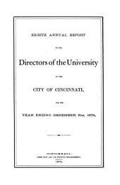 Annual Reports: Volume 8