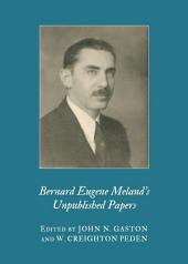 Bernard Eugene Meland's Unpublished Papers