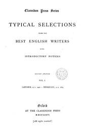 Typical selections from the best English authors, with introductory notices [by E. E. Smith]: Volume 1