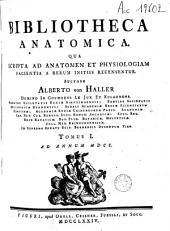 Bibliotheca anatomica: Volume 1