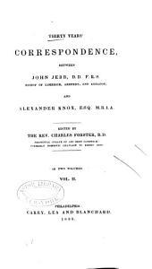 Thirty Years' Correspondence Between John Jebb -- and Alexander Knox--: Volume 2