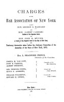 Charges of the Bar Association of New York Against George G  Barnard and Albert Cardozo and John H  McCunn PDF