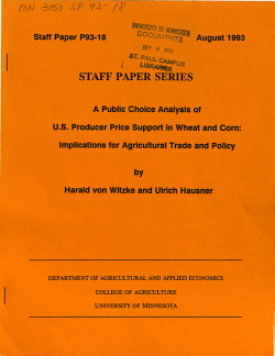 A Public Choice Analysis of U S  Producer Price Support in Wheat and Corn PDF