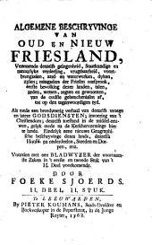 Algemene Beschryvinge van Oud en Nieuw Friesland: Zullende dienen voor eene Inleidinge tot eene volledige Historie van Friesland, Volume 2,Nummer 2