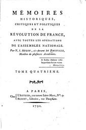 Mémoires historiques, critiques et politiques de la Révolution de France: avec toutes les opérations de l'Assemblée nationale, Volume4