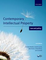 Contemporary Intellectual Property  Law and Policy PDF