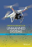 Operations Research for Unmanned Systems PDF
