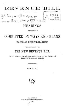 Revenue Bill PDF