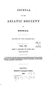 Journal of the Asiatic Society of Bengal: Volume 11, Part 1