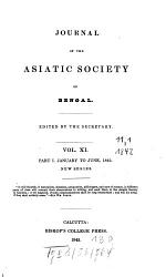 Journal Of The Asiatic Society Of Bengal Book PDF