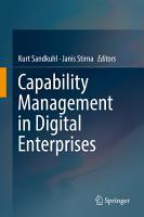 Capability Management in Digital Enterprises PDF