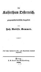 Kaiserthum Oesterreich, geographisch-statistisch dargestellt