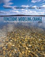 Functions Modeling Change  A Preparation for Calculus  4th Edition PDF