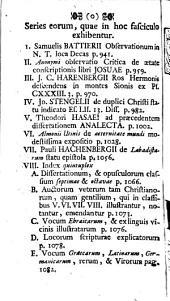 Bibliotheca Historico - Philologico - Theologica: continentiam illius pagina praefationem, in qua de illius operis instituto agitur, exhibet, Part 6