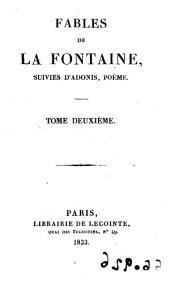 Fables, 2: suivies d'Adonis, poême, Volume1