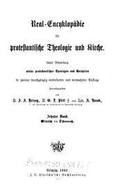 Real-encyklopädie für protestantische theologie und kirche: Band 10
