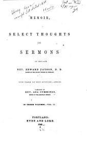 Memoir, Select Thoughts and Sermons: Volume 2