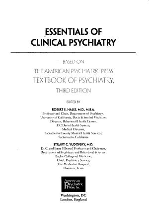 Essentials of Clinical Psychiatry PDF