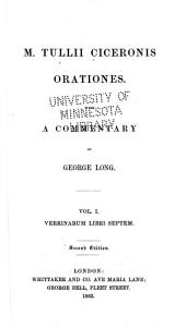 M. Tullii Ciceronis orationes: Volume 1