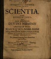 Disquisitio Iuridica Inauguralis, De Scientia, eiusque Effectu Iuris