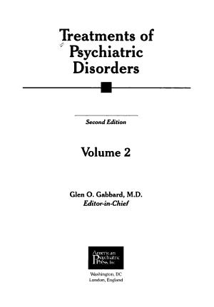 Treatments of Psychiatric Disorders PDF