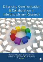 Enhancing Communication   Collaboration in Interdisciplinary Research PDF