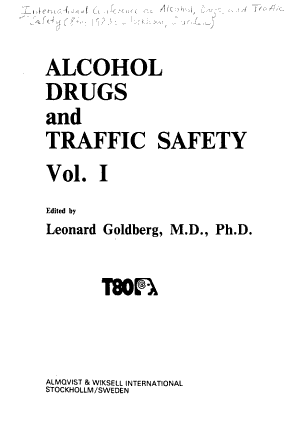 Alcohol  Drugs  and Traffic Safety PDF