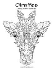 Giraffes Coloring Book for Grown-Ups 1