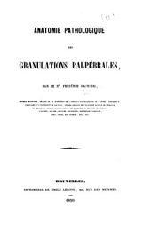 Anatomie pathologique des granulations palpébrales