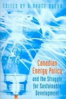 Canadian Energy Policy and the Struggle for Sustainable Development PDF