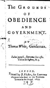 The Grounds of Obedience and Government