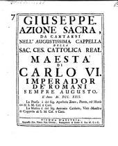 Giuseppe. Azione sacra. La musica e di Antonio Caldara