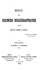 Revue des sciences ecclésiastiques: Volume6