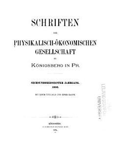 Schriften der Physikalisch   konomischen gesellschaft zu K  nigsberg in Pr PDF
