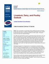Livestock, Dairy, and Poultry Outlook Aug. 24, 2004