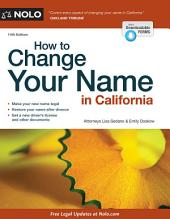 How to Change Your Name in California: Edition 14