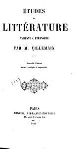 Études de littérature ancienne & étrangère