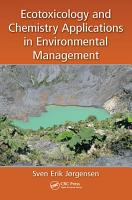 Ecotoxicology and Chemistry Applications in Environmental Management PDF