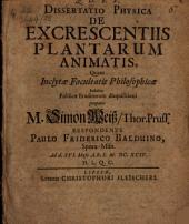 Diss. ... de excrescentiis plantarum animatis