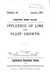 Influence of lime upon plant growth
