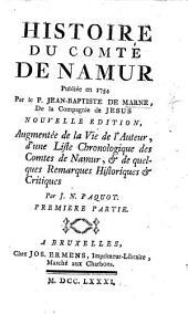 Histoire du Comté de Namur