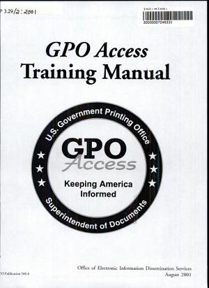 GPO Access Training Manual PDF