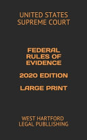 Federal Rules of Evidence 2020 Edition Large Print PDF