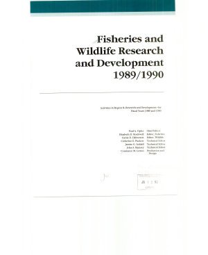 Fisheries and Wildlife Research and Development