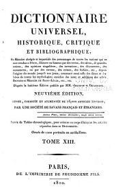 Dictionnaire universel, historique, critique, et bibliographique: Volume13