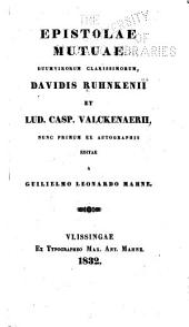 Epistolae mutuae duumvirorum clarissimorum