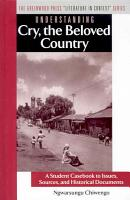 Understanding Cry  the Beloved Country PDF