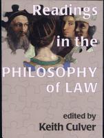 Readings in the Philosophy of Law PDF