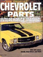 Chevrolet Parts Interchange Manual, 1959-1970