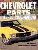 Chevrolet Parts Interchange Manual  1959 1970 PDF